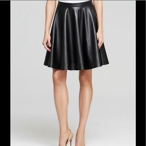 Faux Leather perforated skirt